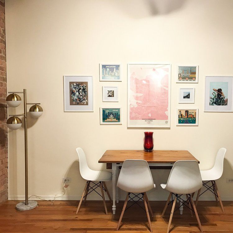 dining nook gallery wall
