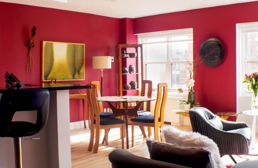 red living room nyc