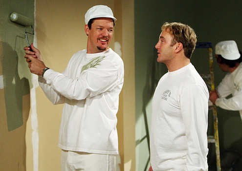 Jay Mohr in Painting Clothes as a Painter in Gary Unmarried