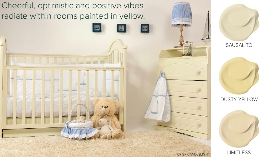 popular yellow paint colors nursery