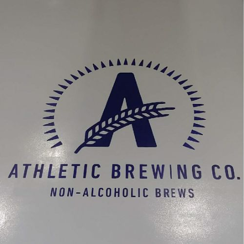 athletic brewing company floor logo