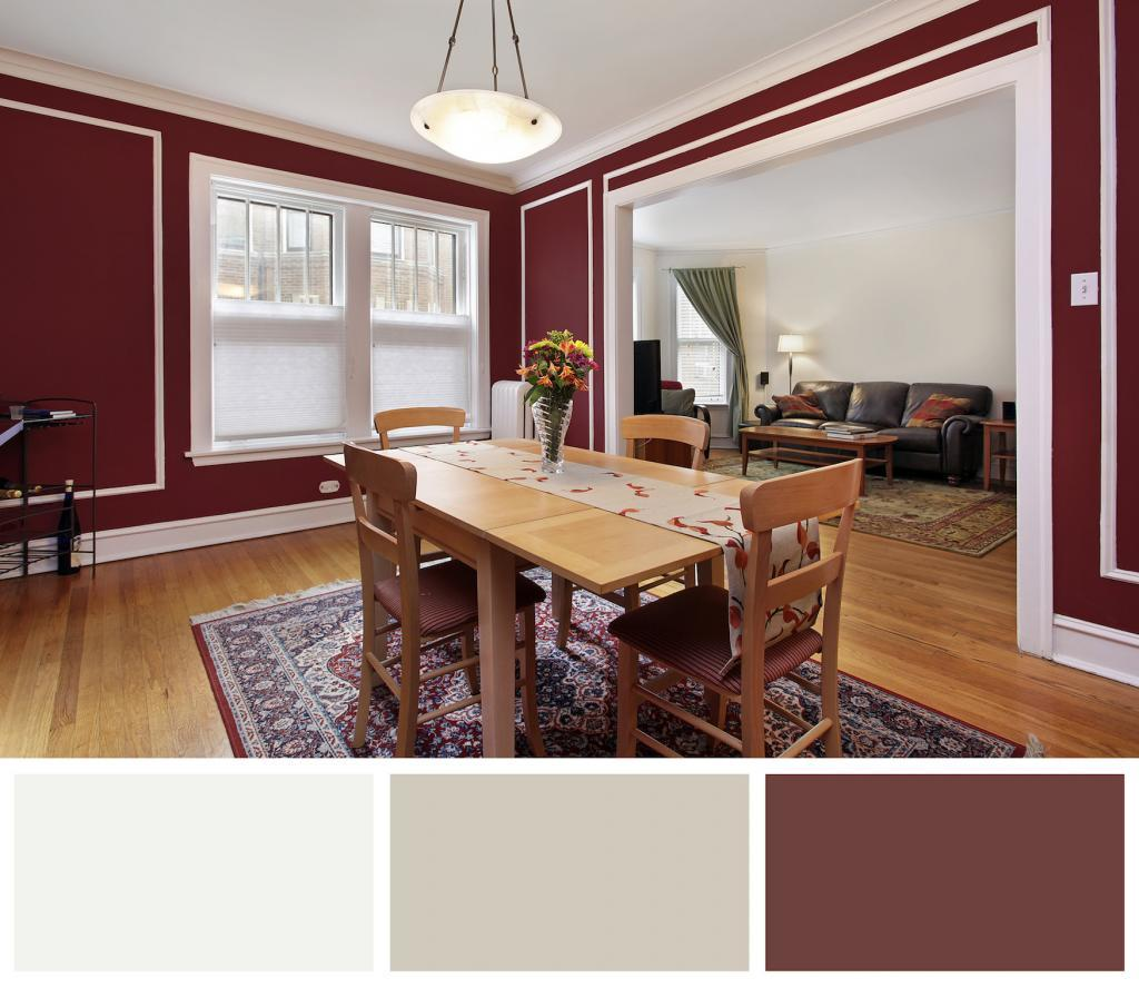 Burgundy Wine Dining Room
