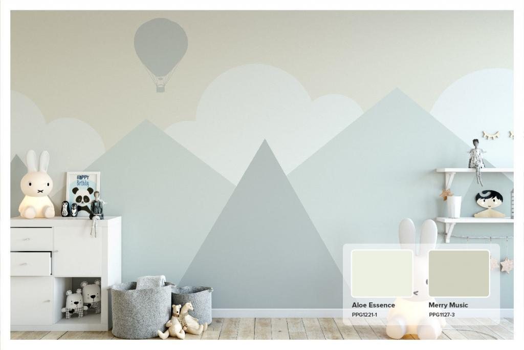 Custom Nursery Mural with PPG Merry Music