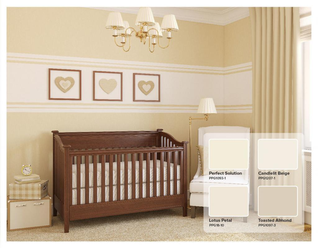 Yellow Nursery with PPG Toasted Almond