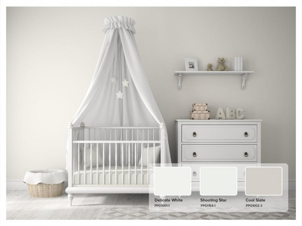 White Paint Nursery - PPG Delicate White