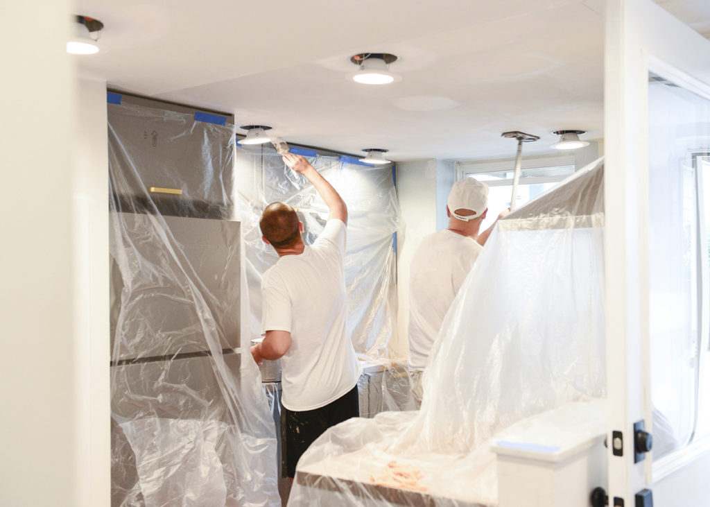 professional painters reduce mess