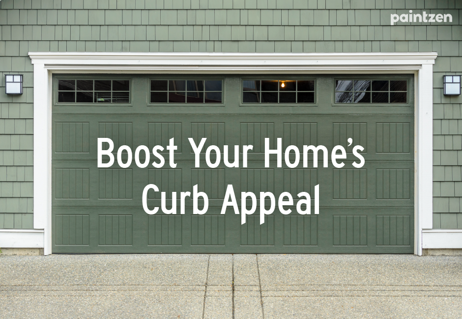 paint your garage door for curb appeal