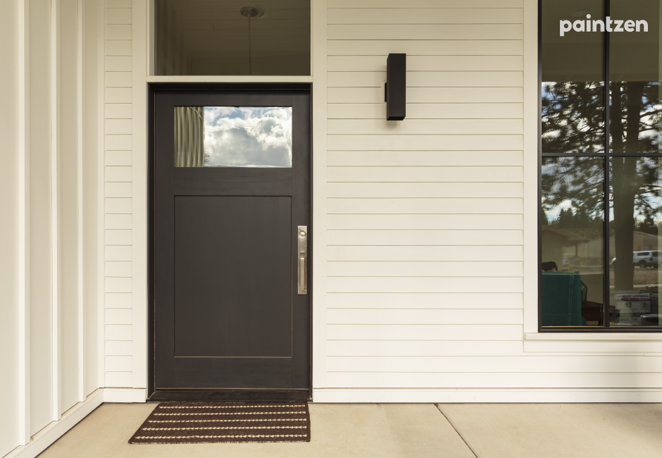repaint the front door for curb appeal