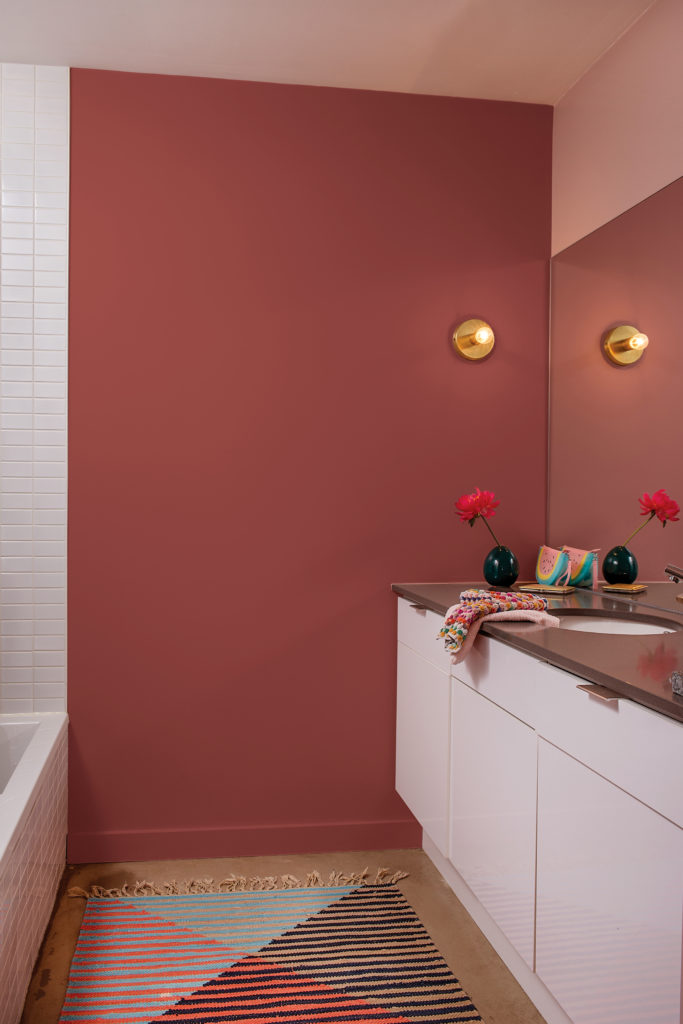 red pink bathroom